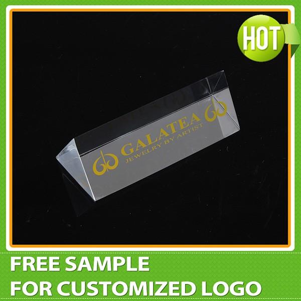 Triangle Acrylic Nameplate Acrylic Block Logo