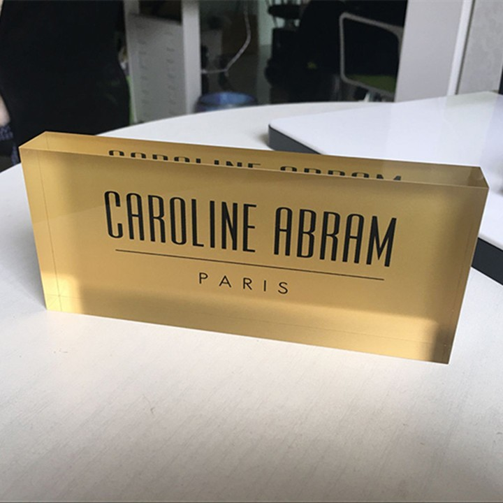 Custom acrylic brand block