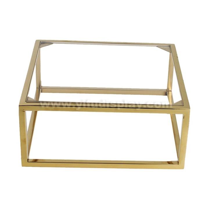 Metal Polished Gold Shoe Shelf