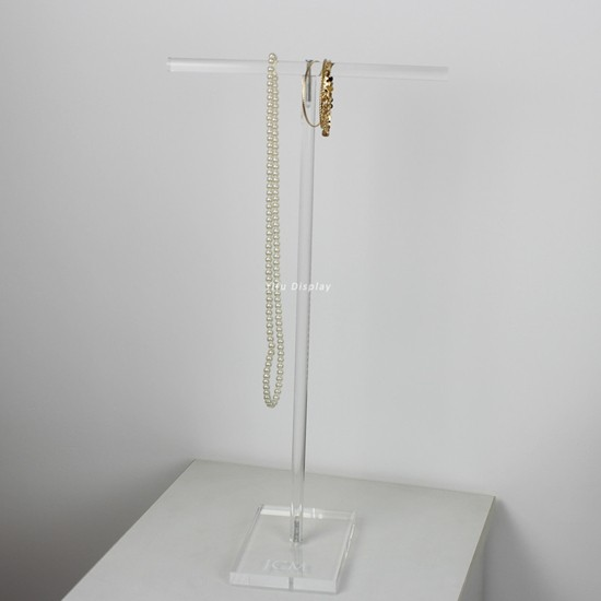 Acrylic T-bar Jewellery Necklace Display RBW005