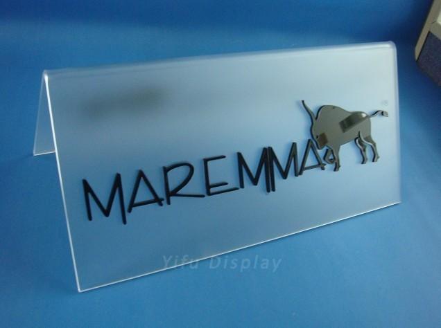 Acrylic Nameplate L035