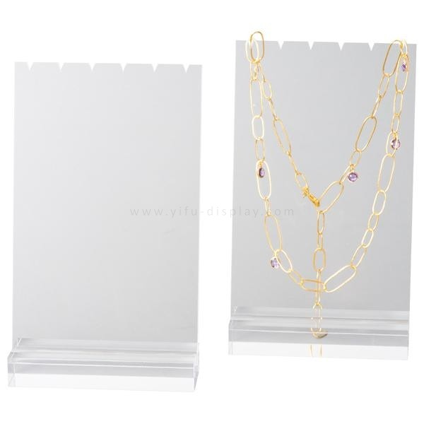 Acrylic necklaces display JW014