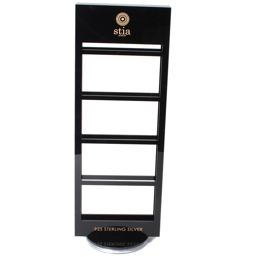 Black Acrylic Earrings Card Display