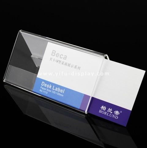 Acrylic   Sign Holder  Desk  Label  SH016