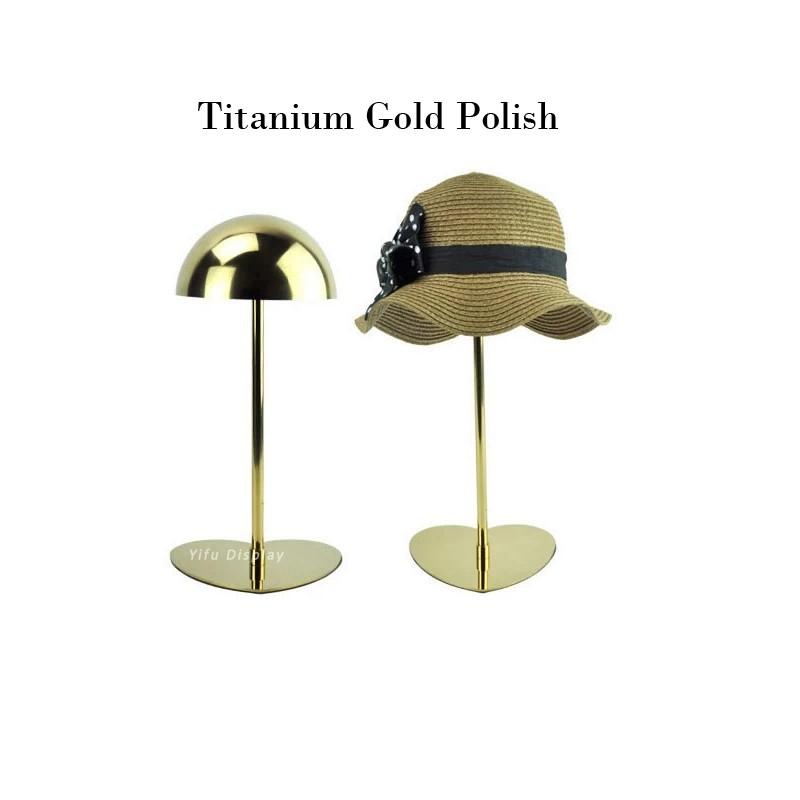 Elegant Hat Holder HH002-Titanium gold polish