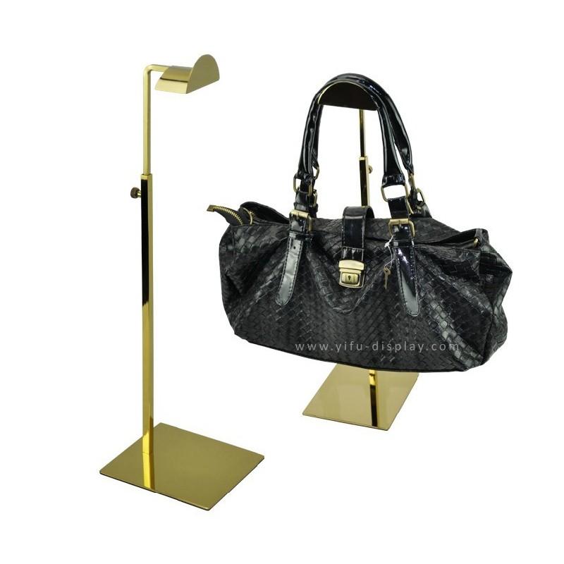 Adjustable Metal Gold Polished Handbag Stand