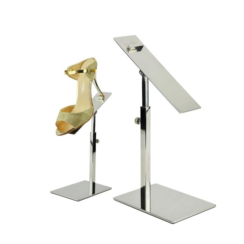 Metal Polished Gold Shoe Display Stand