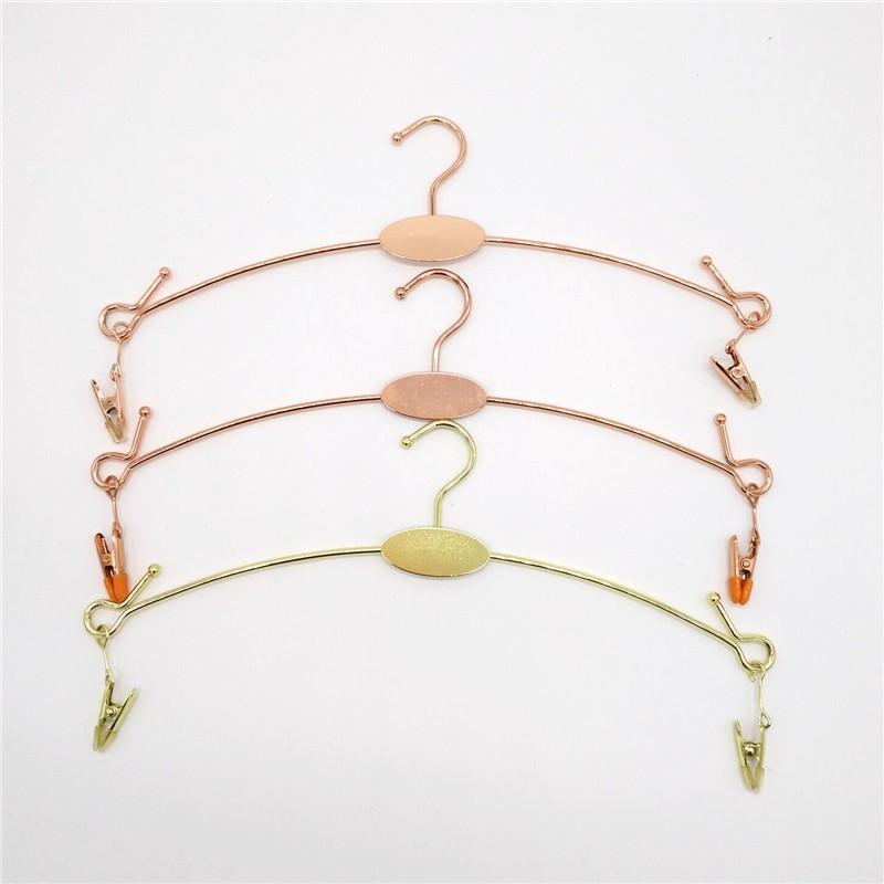 Metal Rack Black Rose Gold Brass Clothes Hanger Shelf