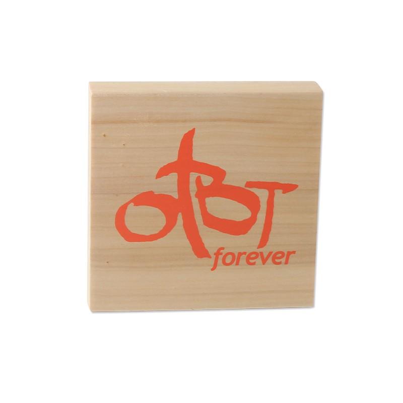 Custom Wood Logo Block
